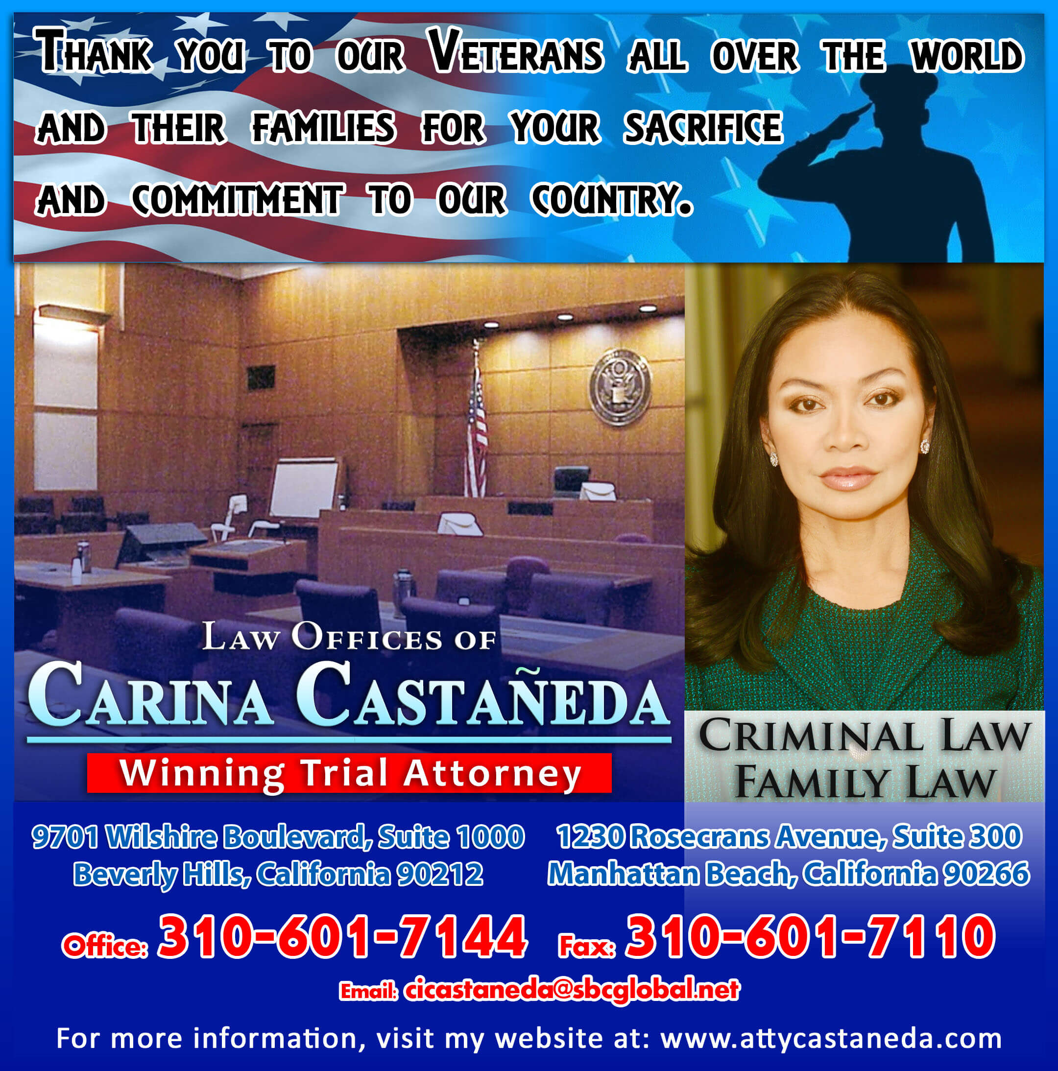 LAW OFFICE OF CARINA CASTANEDA - NEW AD FLAG